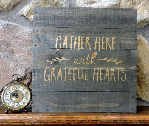 Jen-Gather Here Wood Plank
