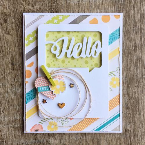 Hello Card-Kristine