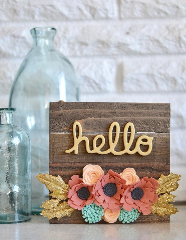 Brandi-Hello Felt Floral Sign #1