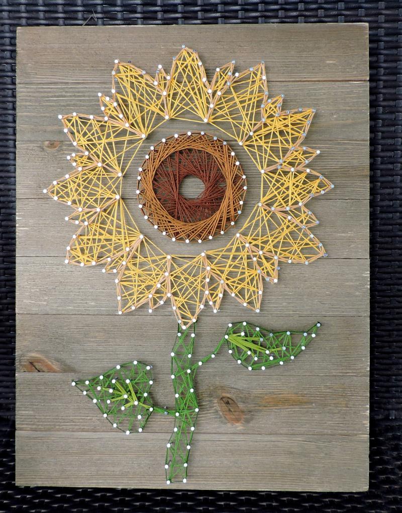 Jen-Sunflower Wall Plank
