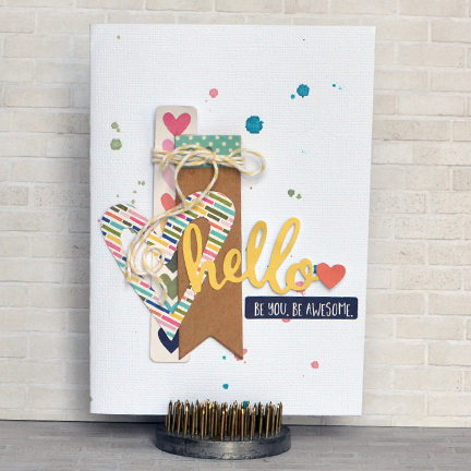 Hello Be Awesome Card-Amy Coose