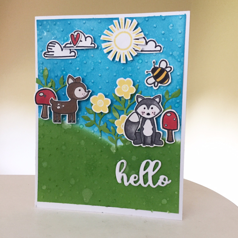 Hello Friends Card-Krisitne