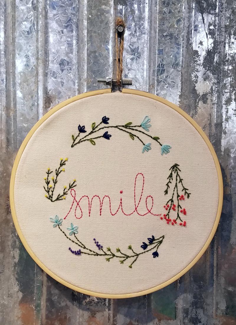 Jillibean Soup Jenifer Harkin Smile Embroidery Hoop