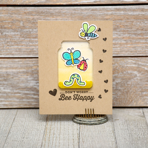 Jillibean-Soup-Summer-Fullerton-Shaker-Jar-Card-JB0827-Bee-Happy-Card-Jan-2018