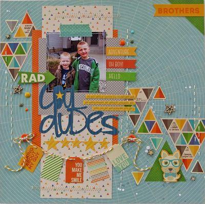 Cool Dudes Layout-Brenda Mellot Cazes