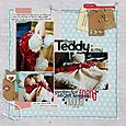 My Teddy layout -Sarah Webb