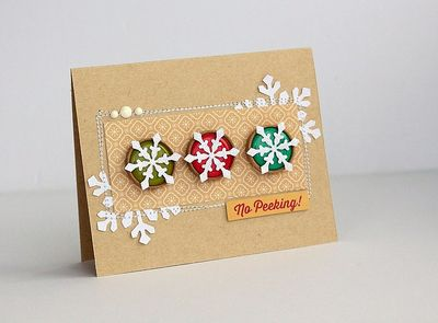 No peeking card by Sarah Webb