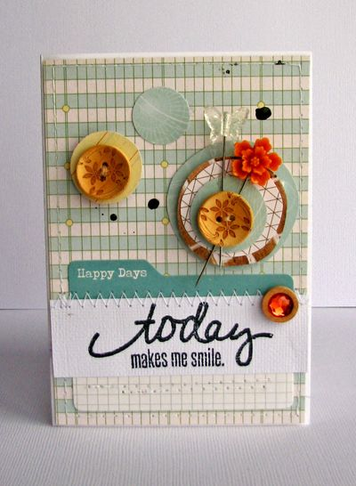 Nicole-today makes me smile card