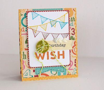 Birthday wish card by Sarah Webb