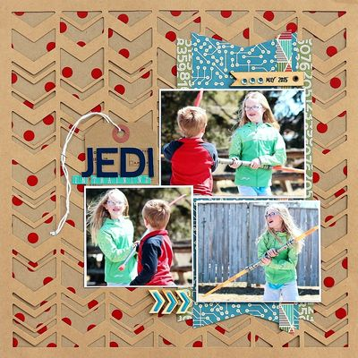 Jedi in training layout by Sarah Webb