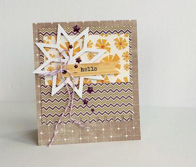 Hello card by Sarah Webb