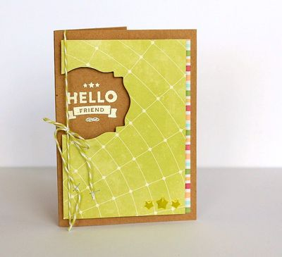Hello Friend card by Sarah Webb