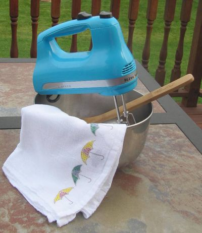 Jenifer-Stamped Flour Sack Towel