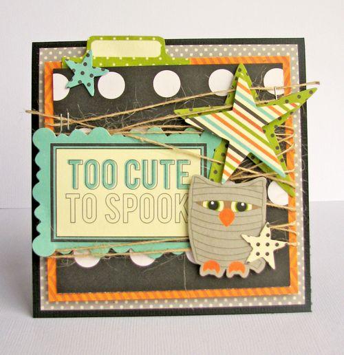 Nicole-too cute to spook card