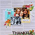 Thankful layout by Sarah Webb