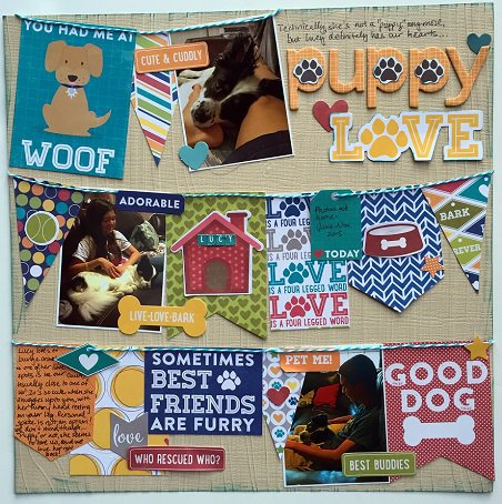 Cynthia Baldwin-Puppy Love Layout