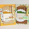 Hello pair of cards by Sarah Webb