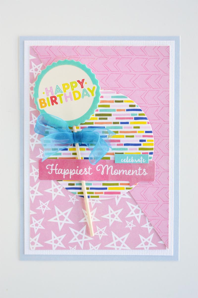 Jillibean Soup_Leanne Allinson_colour blocking_card_Happy Birthday