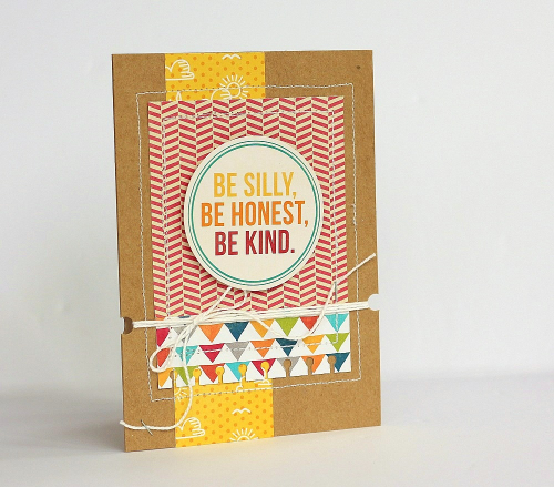 Be silly card by Sarah Webb