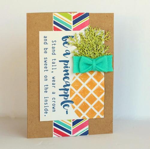 Pineapple card by Sarah Webb