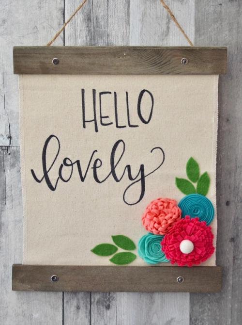 Brandi-Hello Lovely Canvas Sign #1