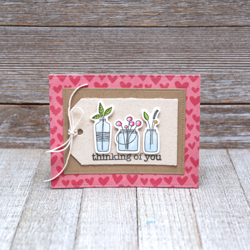 Jillibean-Soup-Summer-Fullerton-Bohemian-Brew-Clear-Stamps-JB1554-Thinking-of-you-card-Feb-2018