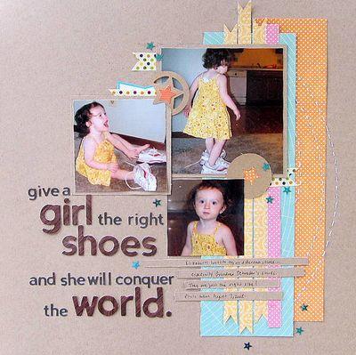 Give a Girl Layout Jenifer Harkin