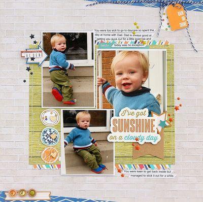 Sunshine layout by Sarah Webb