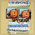 Spy Gear Pumpkin layout by Sarah Webb