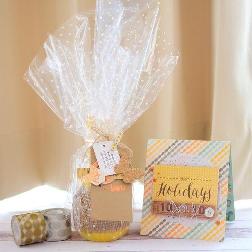 Jillibean Soup Bean Talk Mason Jar Gift Wrap Tutorial