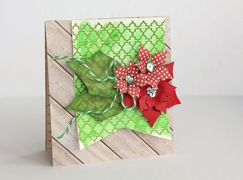 Sarah-Poinsettia Card