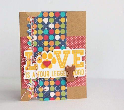 Love is card by Sarah Webb
