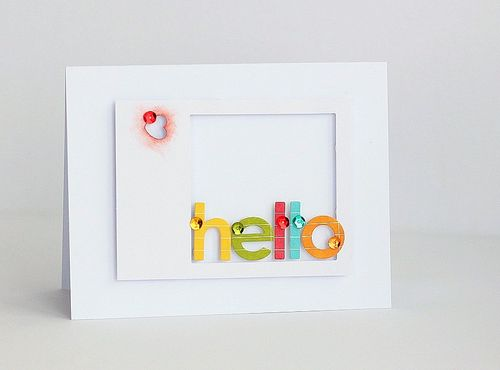 Hello rainbow card by Sarah Webb