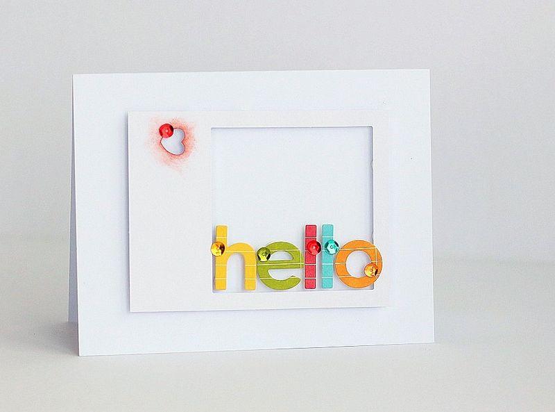 Hello rainbow card by Sarah Webb