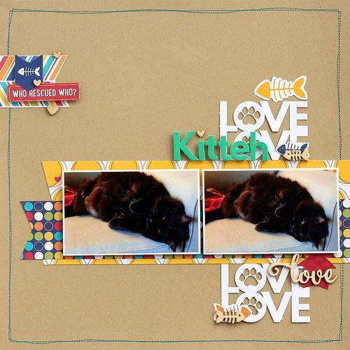 Kitteh Love layout by Sarah Webb
