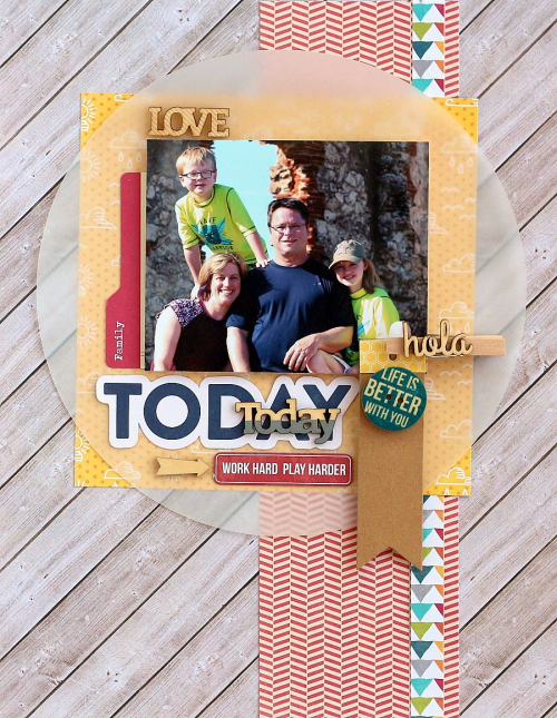 Love Today layout by Sarah Webb