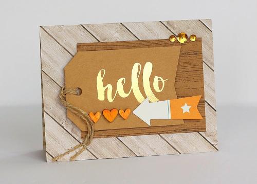 Hello tag card by Sarah Webb
