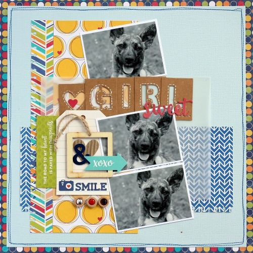 Sweet Girl layout by Sarah Webb