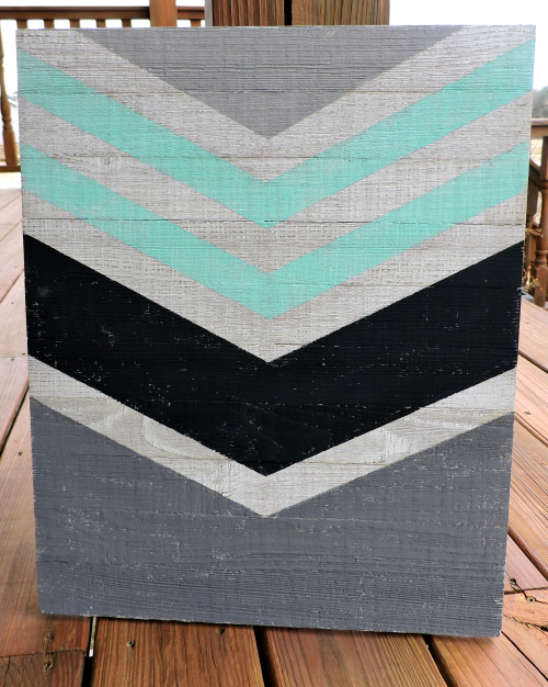 Jen-Chevron Wall Plank