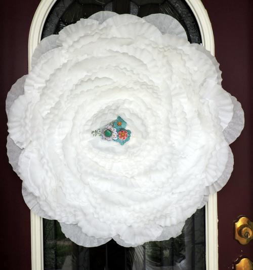 Project-Jen-Coffee Filter Wreath