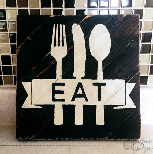 Eat Wood Sign - Kristine Davidson