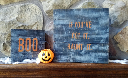 Jen-Halloween Wood Plank
