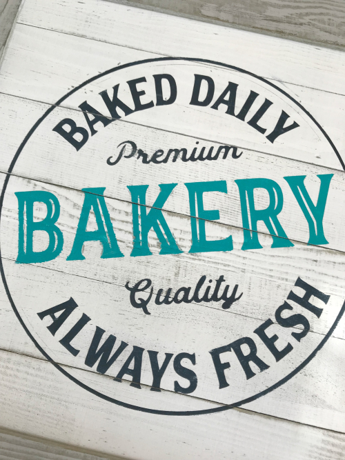 Baker Sign Close Up
