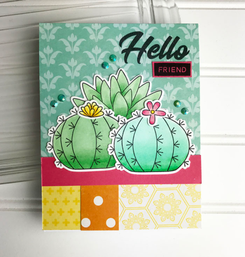 2 Cool For School and Bohemian Brew Card using Stamps.  Jillibean Soup cardmaking.  How to stamp on a card.  #stamping #jillibeansoup #cardmaking #2CoolForSchool#BohemianBrew