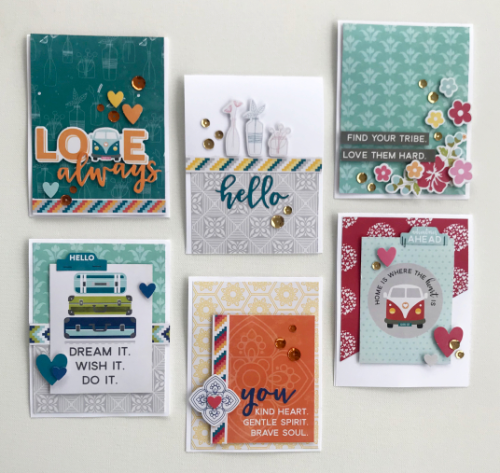 Create 6 fun filled cards using Jillibean Soup Bohemian Brew collection with our free project sheet download with step-by-step instructions.