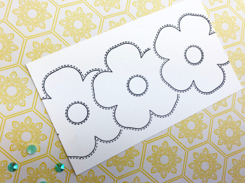 Stamping on a card using 2 Cool For School and Bohemian Brew patterned papers, stamp and die set and jewels & sequins. How to stamp on a card.  Jillibean Soup cardmaking.  #jillibeansoup #cardmaking #stamping #2coolforschool, #bohemianbrew