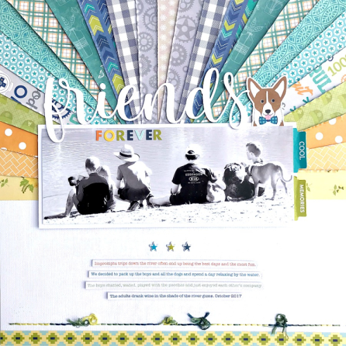 Scrapbook layout using Bohemian Brew, 2 Cool For School, Farmhouse Stew, and Shades of Color Soup.  Jillibean Soup scrapbooker.  #jillibeansoup #scrapbooker #bohemianbrew #2coolforschool #shadesofcolorsoup #farmhousestew