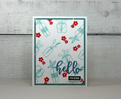Stamped card using Bohemian Brew.  How to stamp on a card.  Jillibeansoup cardmaking.  #jillibeansoup #cardmaking #bohemianbrew, #souplabels