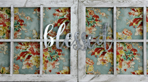 Home decor mix the media project using a window frame.  How to create a home decor piece using mix the media.  Jillibean Soup Mix the Media.  #jillibeansoup #mixthemedia #homedecor #diy #windowframe