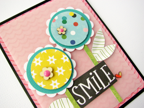 Card using MISO Happy and wood veneer.  How to create a card with patterned paper.  Jillibean Soup cardmaking.  #jillibeansoup #cardmaking #MISOhappy #patternedpaper #woodveneer